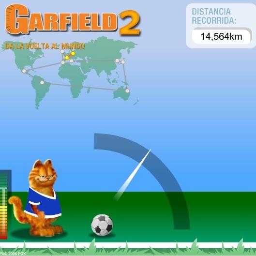 Гарфилд с мячом вокруг света
