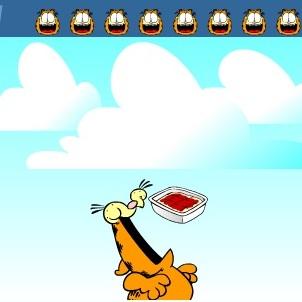 Гарфилд кушает лазанью