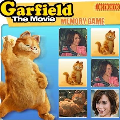 Гарфилд тренируем память