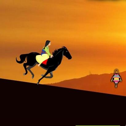 Скачки на коне Мулан