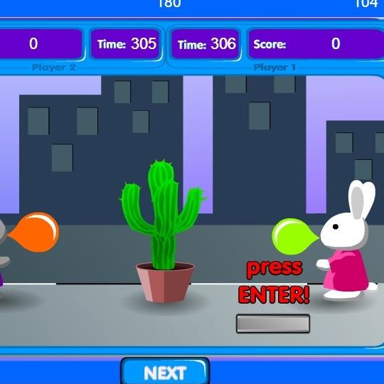 Бешеные кролики: надуваем шарики