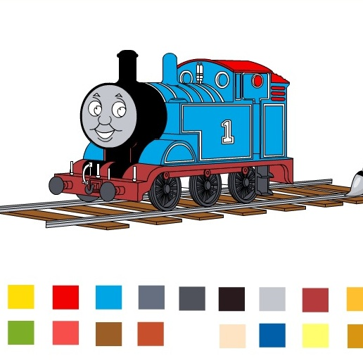 Цветной Паровозик Томас