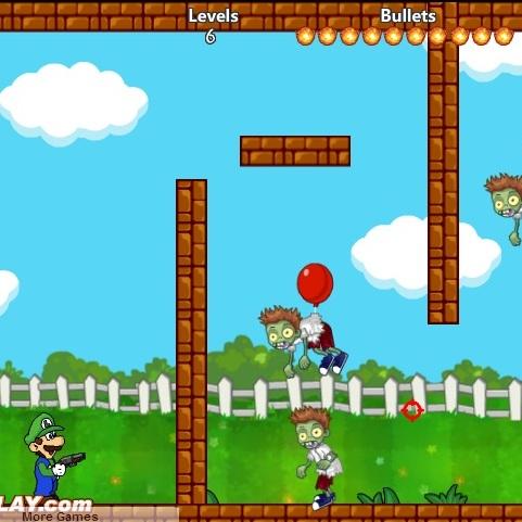 Марио Луиджи стреляет по зомби