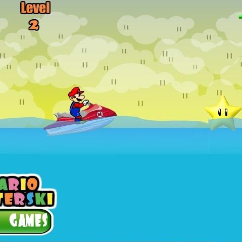 Марио на водном мотоцикле