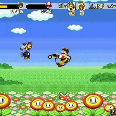 Марио защита от пчел
