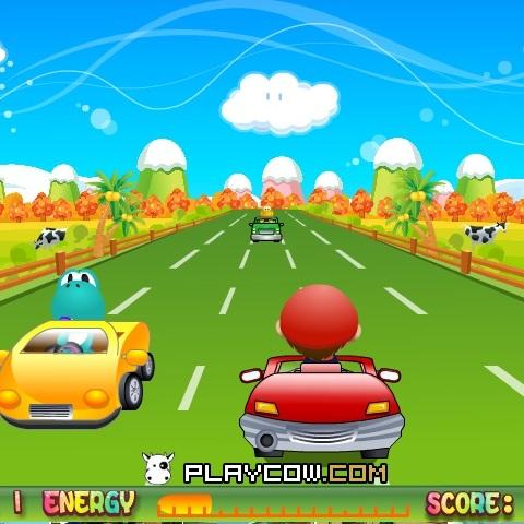 Марио езда на автомобиле