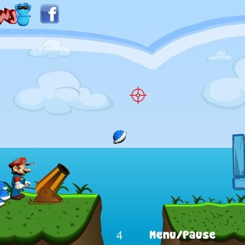 Марио стреляет из пушки