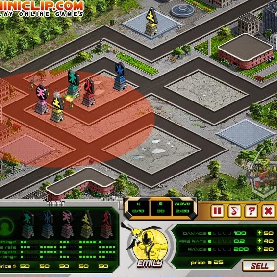 Могучие Рейнджиры оборона города