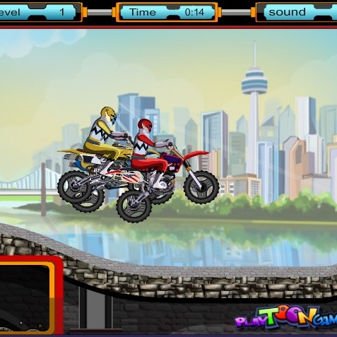 Гонка на мотоциклах Могучих Рейнджеров